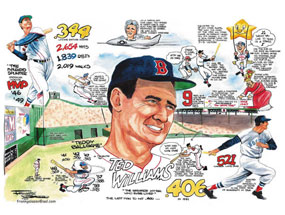 """Frank Galasso, Ted Williams of the Boston Red Sox: """"A Tribute to Ted Williams"""""""