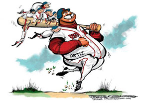 Frank Galasso, David Ortiz of the Boston Red Sox