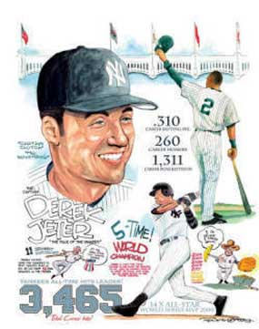 Frank Galasso, A Tribute to Derek Jeter of the New York Yankees