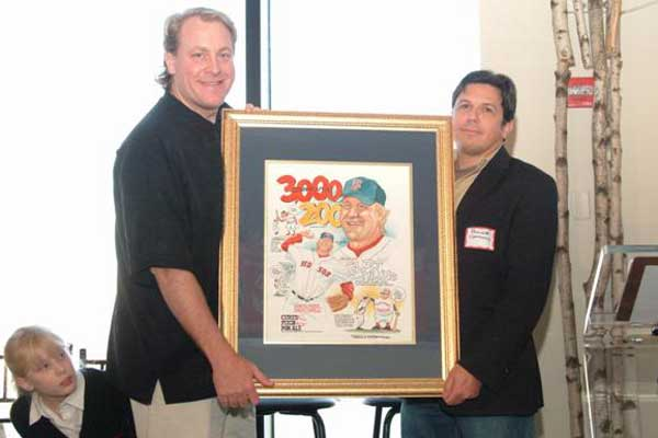 Frank Galasso with Curt Schilling