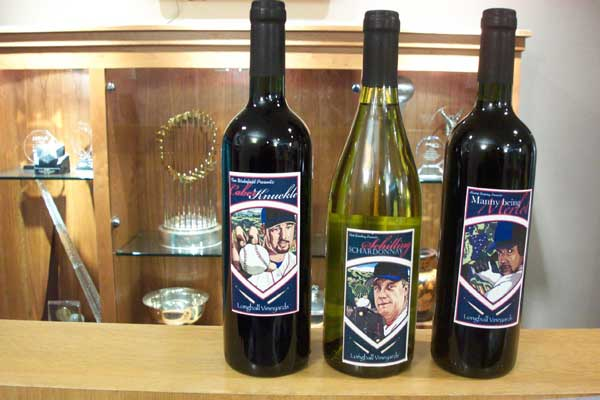 2007 Boston Red Sox Wines with World Series Trophy