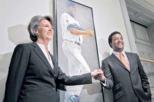 Susan Miller-Havens with Pedro Martinez
