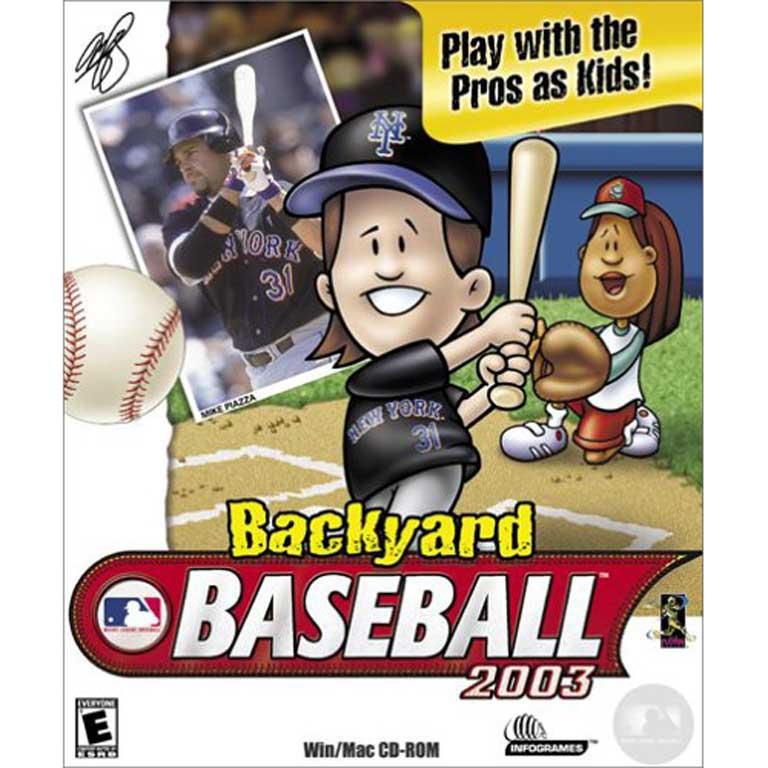 Backyard Baseball, 2003 with Mike Piazza