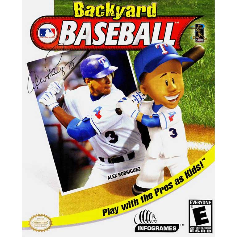 Backyard Baseball, 2004 with Alex Rodriguez