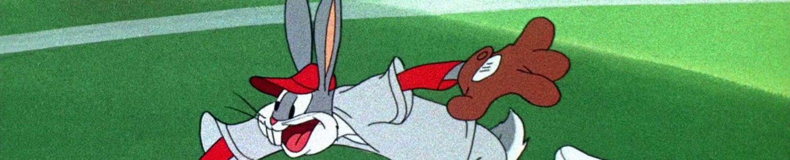Baseball Bugs Bunny cartoon - header