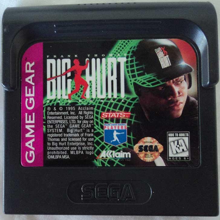 Frank Thomas Big Hurt Baseball 1996 Cartridge