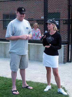 Shonda and Curt Schilling address 100 Innings of Baseball players