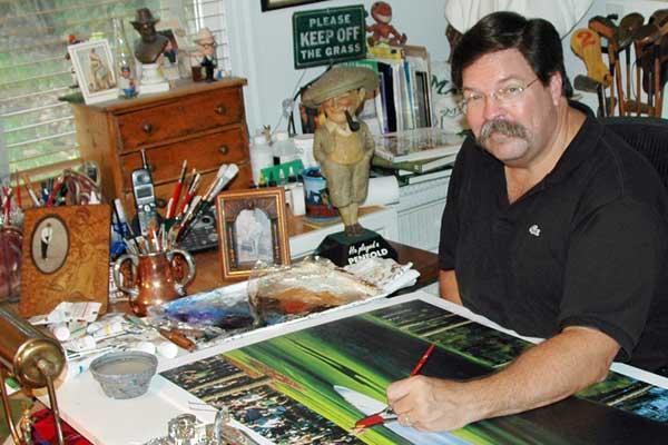Bill Purdom painting