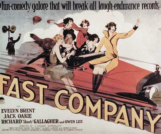 Fast Company, baseball movie poster
