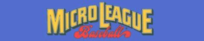 MicroLeague Baseball - header