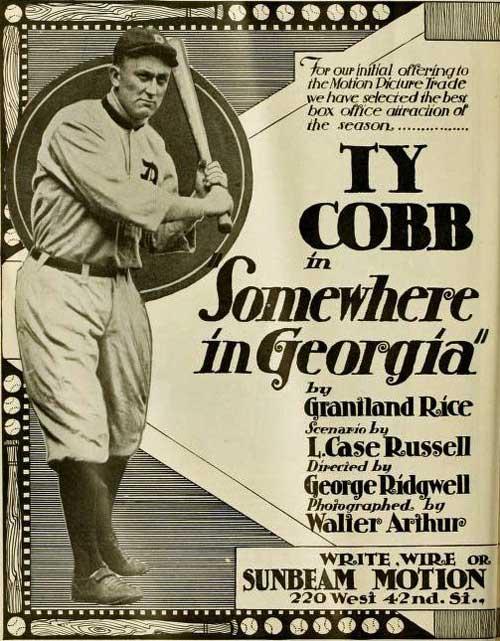 Somewhere in Georgia movie starring Ty Cobb