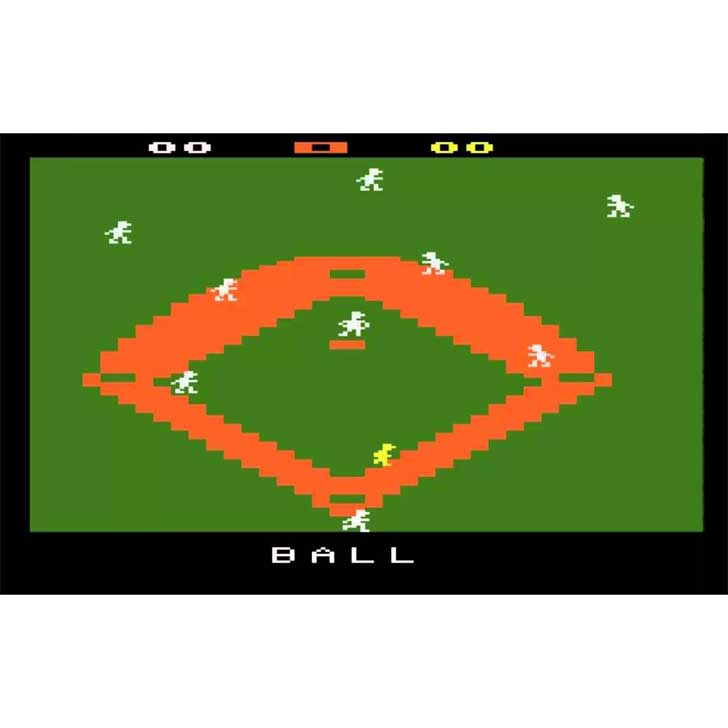 Super Baseball screenshot (Atari 2600)