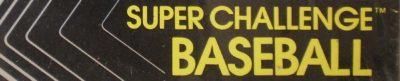 Super Challenge Baseball - header