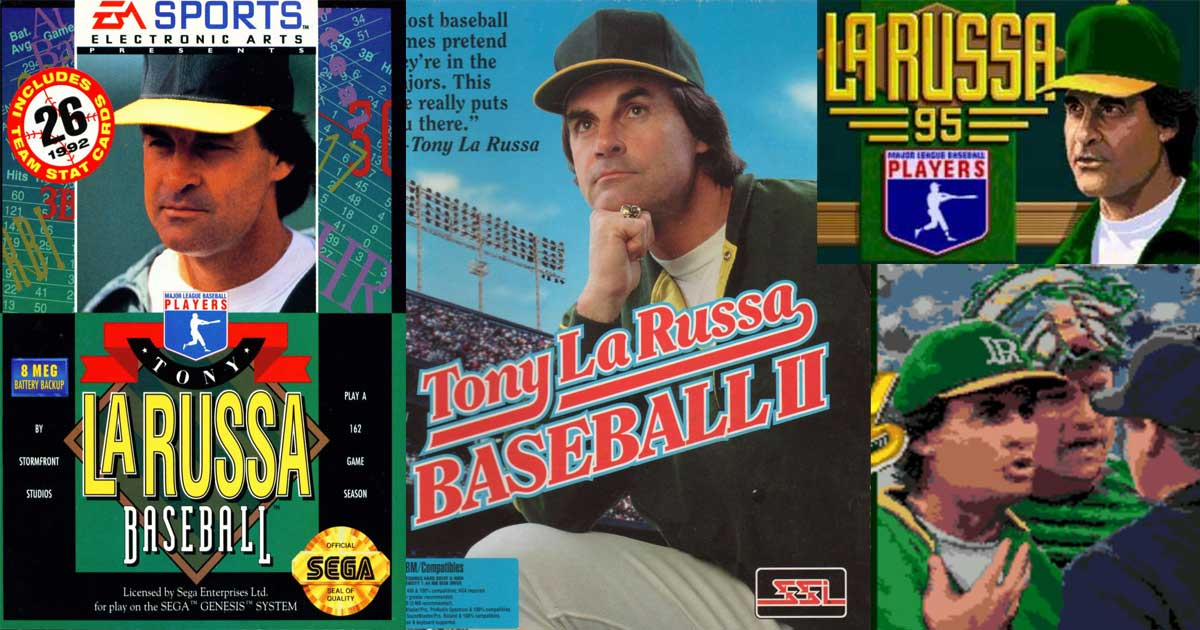 Tony La Russa Video Games Collage