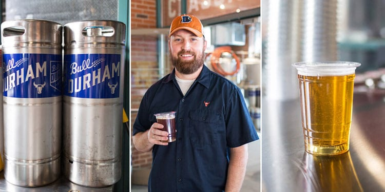 Durham Bulls Beer Co kegs