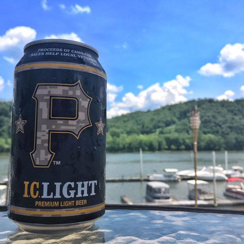 IC Light Beer for Warrior Foundation with Pittsburgh Pirates