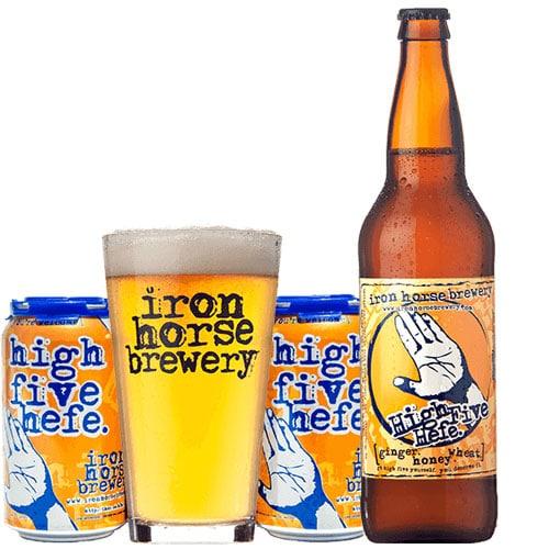 High Five Hefe - Iron Horse Brewery