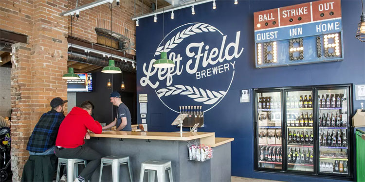 Left Field Brewery inside