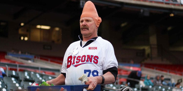 Buffalo Bisons Conehead beer man, Tom Girot