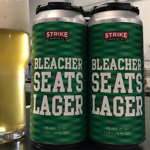 Bleacher Seats Lager - Strike Brewing Co.