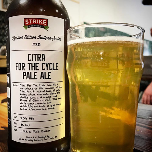 Citra for the Cycle - Strike Brewing Co.