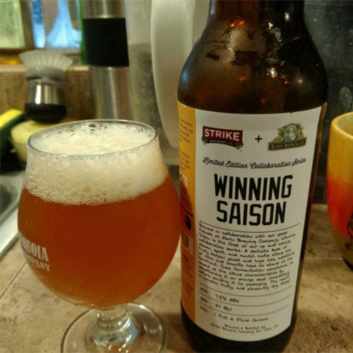 Winning Saison - Strike Brewing Co.