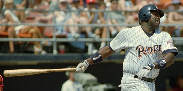 Tony Gwynn batting in 1994