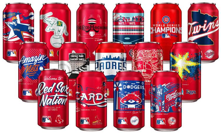 Budweiser MLB Team Cans