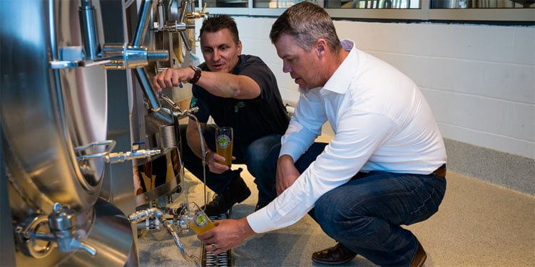 Chipper Jones Tries CJ10 Kolsch Beer