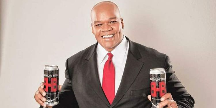 Frank Thomas Showing Off Big Hurt Beer