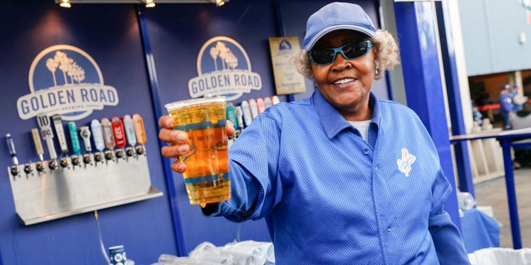 Golden Road Beer For Sale at Dodgers Stadium