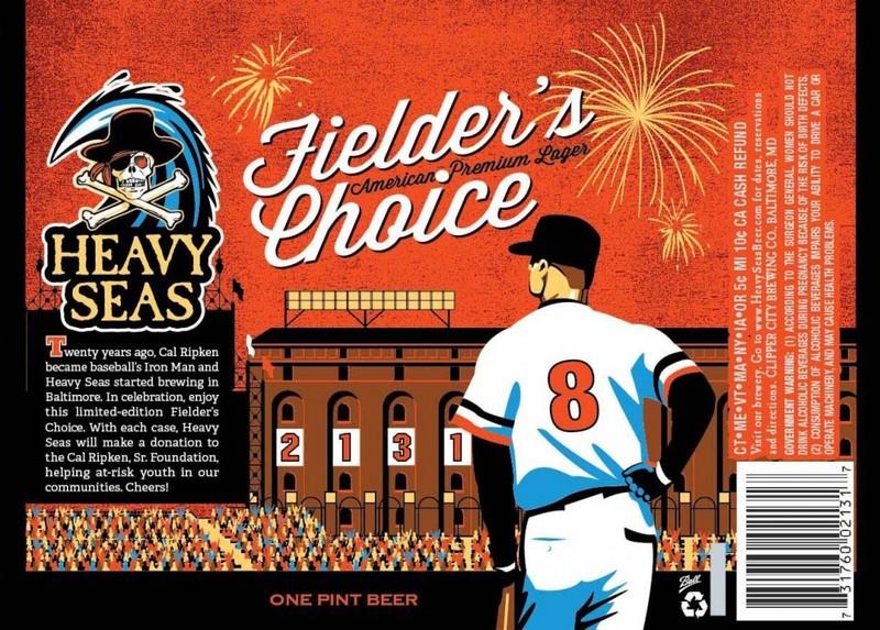 Fielder's Choice by Heavy Seas Beer Label with Cal Ripken