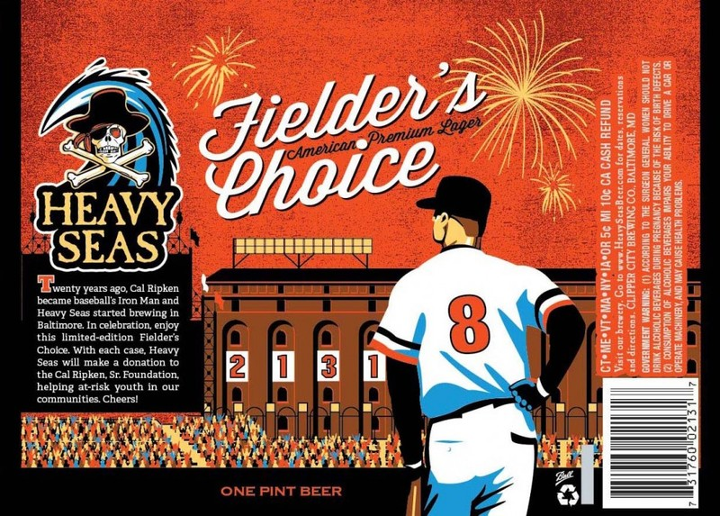 Fielder's Choice by Heavy Seas Beer Label with Cal Ripken