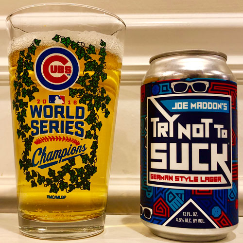 Joe Maddon's Try Not to Suck Beer
