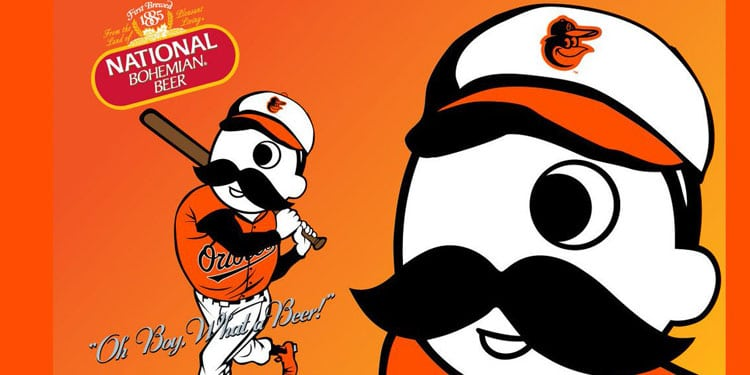 National Bohemian Beer with Baltimore Orioles
