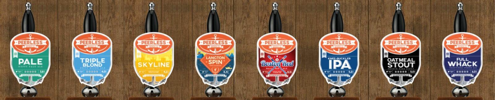 Peerless Brewing Company header