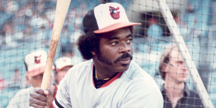 Eddie Murray of the Baltimore Orioles, Nicknamed Steady Eddie