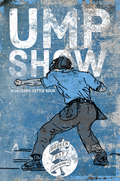 Ump Show Blueberry Kettle Sour – Broken Bat Brewing