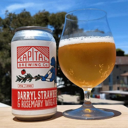 Darryl Strawberry & Rosemary Wheat Beer – Capital Brewing Co.