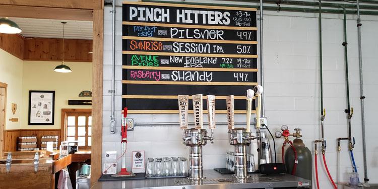 Cooperstown Brewing pinch hitters menu