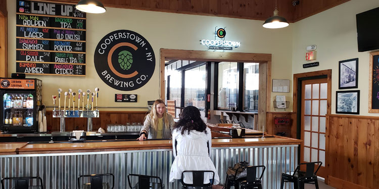 Cooperstown Brewing inside taproom