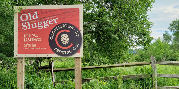 Cooperstown Brewing outside sign