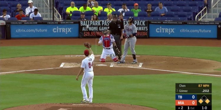 Empty Seats Behind Home Plate at Florida Marlins Game