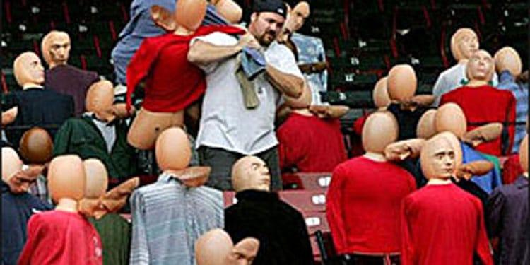 Mannequin Fans at Fenway Park