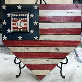 Tim Kuncis – Barnwood Sports – Hall of Fame Home Plate Flag