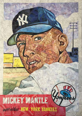 Tim Carroll Art – Mickey Mantle