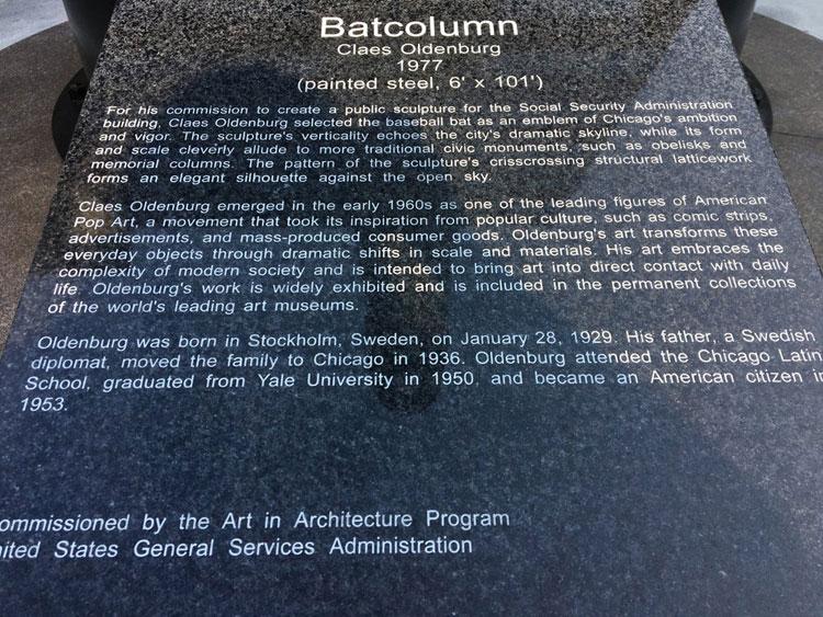 About Batcolumn - Plaque for Sculpture
