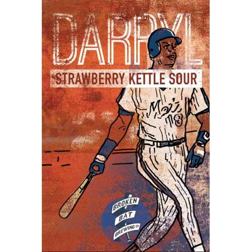 Darryl Strawberry Kettle Sour – Broken Bat Brewing