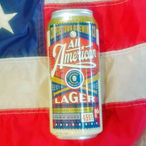 All American Lager – Cooperstown Brewing