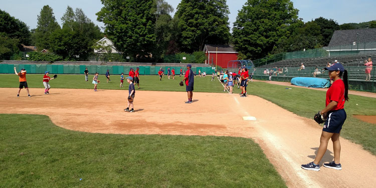 Doubleday Field outfield